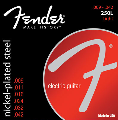Fender Super 250L Nickel Plated Steel Guitar Strings