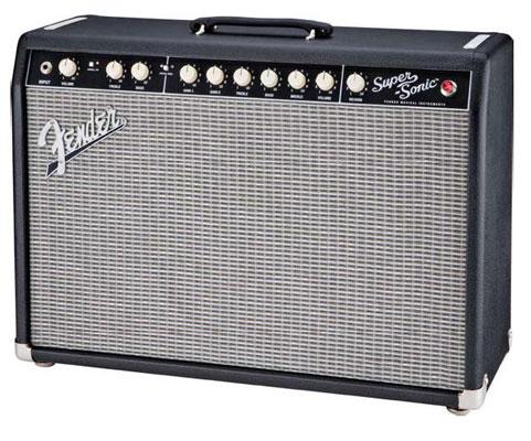 Fender Super Sonic 22 Tube 1x12 Guitar Combo Amplifier Black
