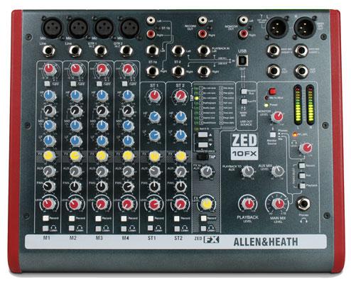 Allen and Heath Zed 10FX USB Mixer with FX