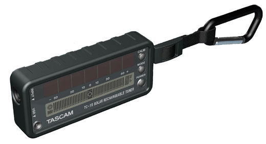 Tascam TC1S Solar Powered Guitar and Bass Tuner