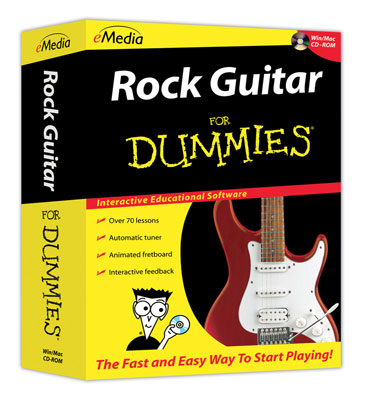 eMedia Rock Guitar For Dummies Software