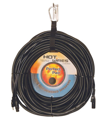 Hot Wires MP Combo Power and Audio Powered Speaker XLR Cable
