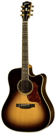 Gibson Songwriter Deluxe Standard EC Acoustic Electric Guitar with Case