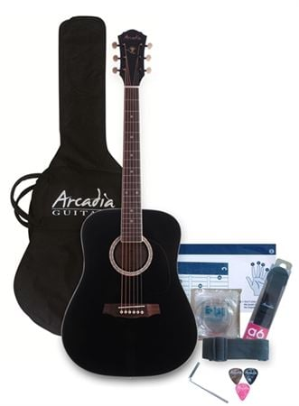 Arcadia DL38 3/4 Size Acoustic Guitar Pack