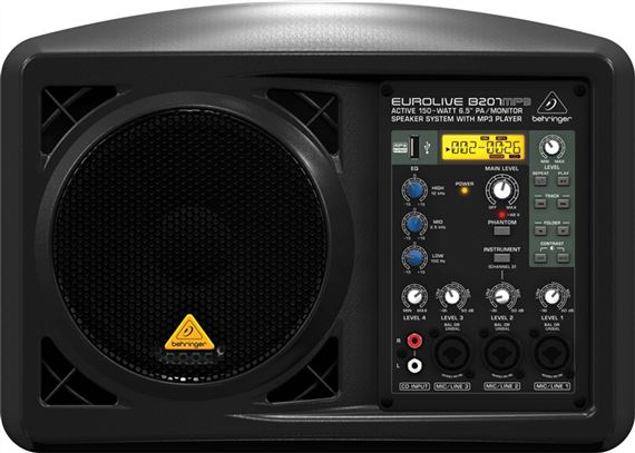 Behringer Eurolive B207MP3 Powered PA Speaker