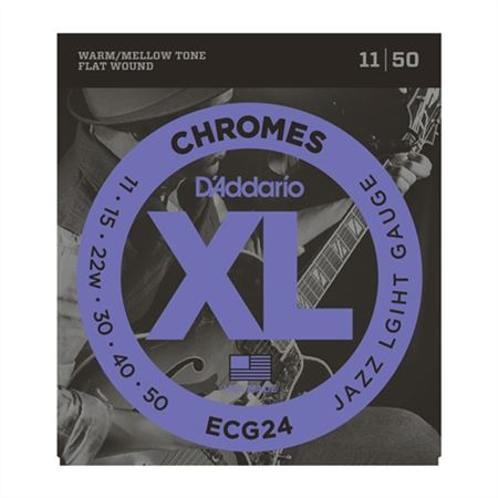 DAddario ECG24 XL Chromes Flat Wound Electric Guitar Strings