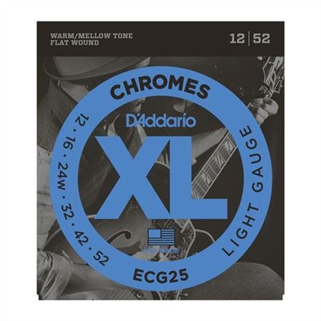 DAddario ECG25 XL Chromes Flat Wound Electric Guitar Strings