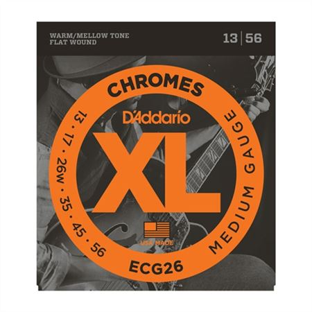 DAddario ECG26 XL Chromes Flat Wound Electric Guitar Strings