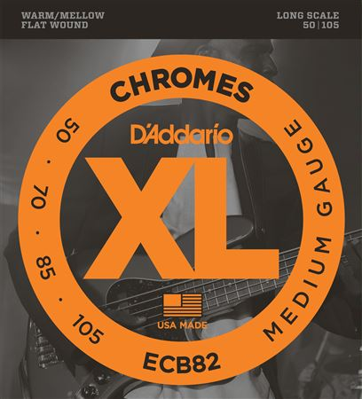 DAddario XL Chromes Flatwound Bass Guitar Strings