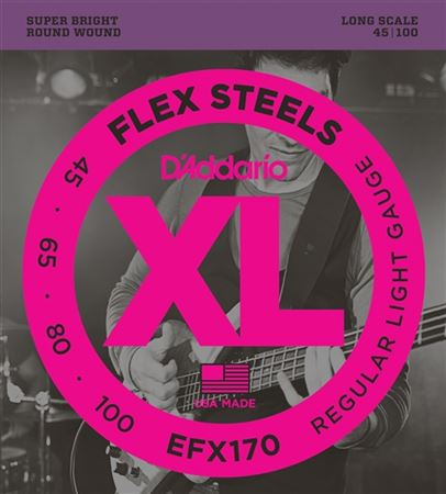 DAddario EFX170 FlexSteels Round Wound Bass Guitar Strings