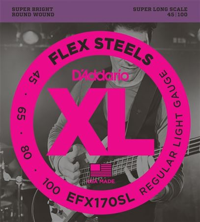 DAddario EFX170SL FlexSteels Round Wound Bass Strings