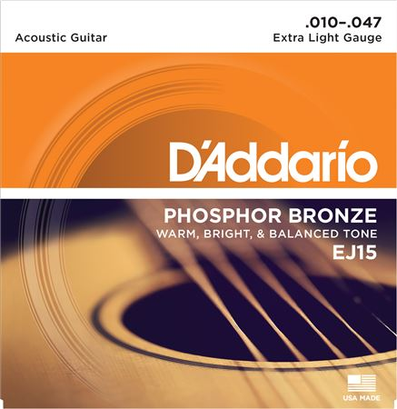 DAddario EJ15 Phosphor Bronze Acoustic Guitar Strings