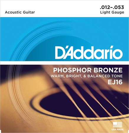DAddario EJ16 Phosphor Bronze Acoustic Guitar Strings