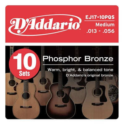 DAddario EJ17 Phosphor Bronze Acoustic Guitar Strings