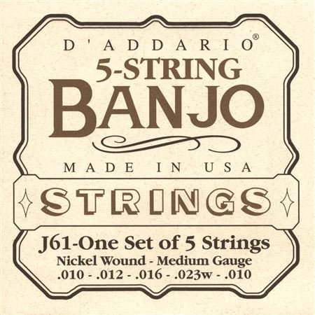 DAddario EJ61 Nickel Wound Banjo Strings