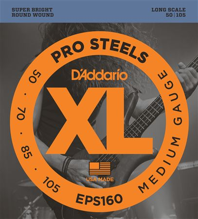 DAddario EPS160 XL ProSteel Electric Bass Guitar Strings