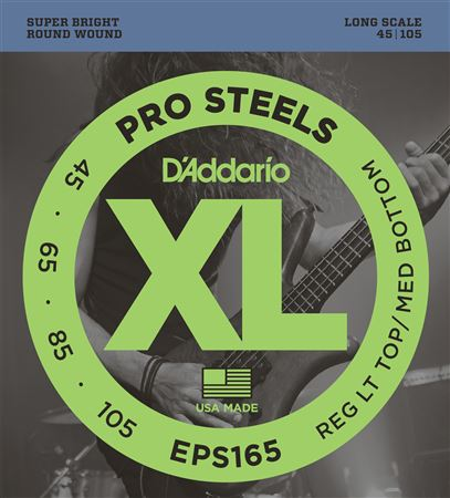 DAddario EPS165 XL ProSteel Electric Bass Guitar Strings