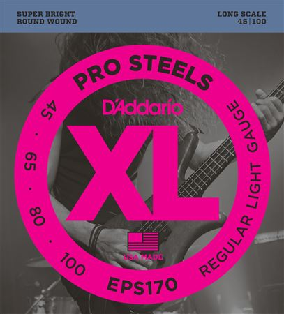 DAddario EPS170 XL ProSteels Electric Bass Guitar Strings