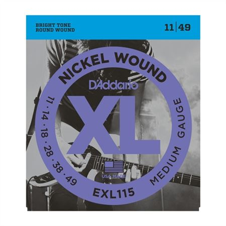 DAddario EXL115 XL Blues Jazz Rock Electric Guitar Strings