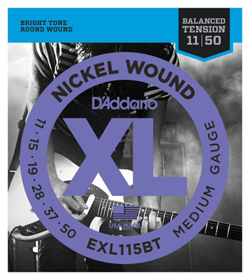 DAddario EXL115BT XL Balanced Tension Nickel Wound Guitar Strings