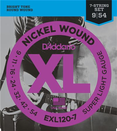 DAddario EXL1207 XL 7 String Nickel Wound Strings