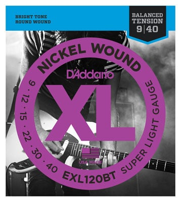 DAddario EXL120BT XL Balanced Tension Nickel Wound Guitar Strings