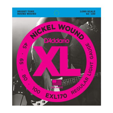 DAddario EXL170 XL Nickel Wound Long Scale Bass Strings