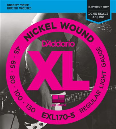 DAddario EXL170 XL Nickel Wound 5 String Bass Strings