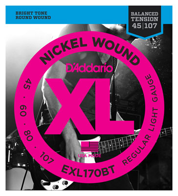 DAddario EXL170BT XL Balanced Tension Nickel Wound Bass Strings