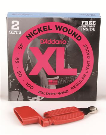 Daddario EXL170 Nickel Wound Bass Strings 2 Pak Free Pegwinder
