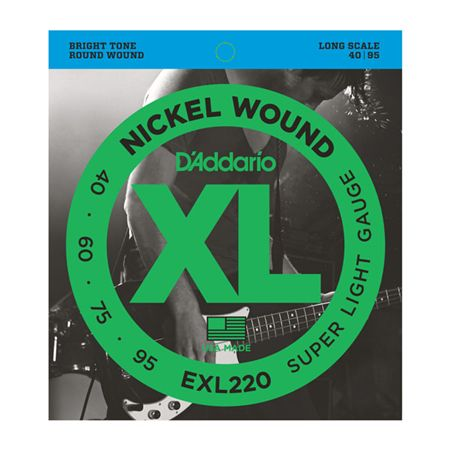 DAddario EXL220 XL Nickel Wound Long Scale Bass Strings