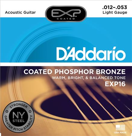 DAddario EXP Phosphor Bronze Acoustic Guitar Strings