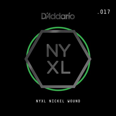 Daddario NYNW017 NYXL Single Nickel Wound Guitar String .017