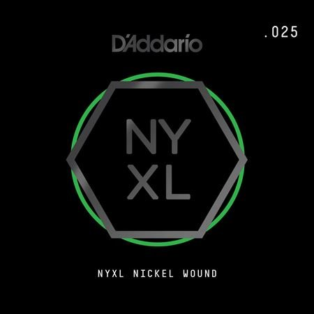 Daddario NYNW025 NYXL Single Nickel Wound Guitar String .025
