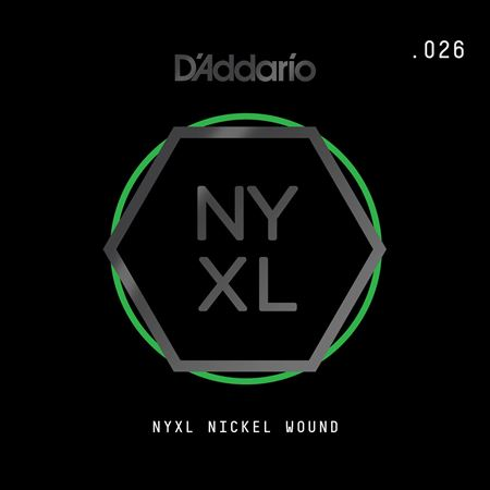 Daddario NYNW026 NYXL Single Nickel Wound Guitar String .026