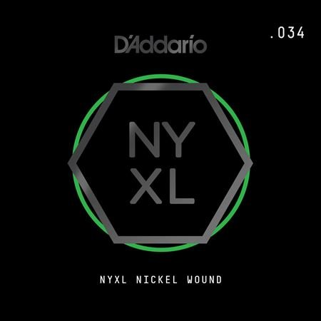 Daddario NYNW034 NYXL Single Nickel Wound Guitar String .034