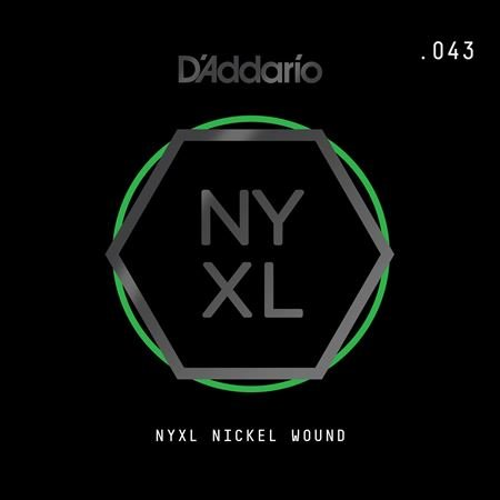 Daddario NYNW043 NYXL Single Nickel Wound Guitar String .043