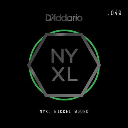 Daddario NYNW049 NYXL Single Nickel Wound Guitar String .049