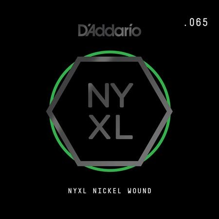 Daddario NYNW065 NYXL Single Nickel Wound Guitar String .065