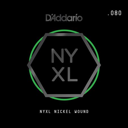 Daddario NYNW080 NYXL Single Nickel Wound Guitar String .080