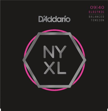 Daddario NYXL0940BT NYXL Nickel Wound Balanced Tension Super Light 09-40