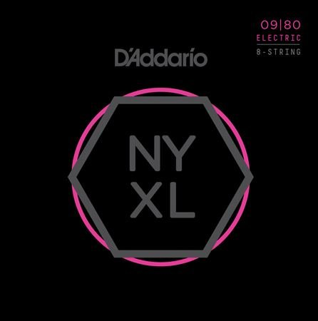 Daddario NYXL0980 NYXL Nickel Wound 8-String Set 09-80