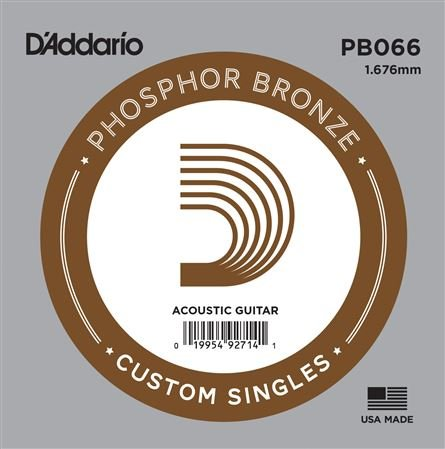 DAddario PB066 Phosphor Bronze Wound Single Acoustic Guitar String