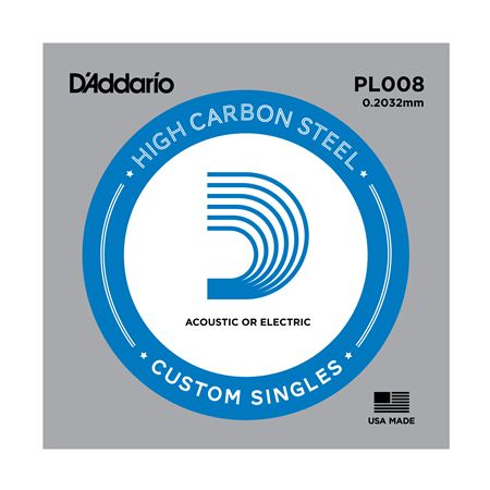 D'Addario PL008 Plain Acoustic or Electric Guitar String