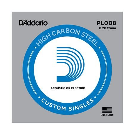 DAddario PL008 Plain Acoustic or Electric Guitar String