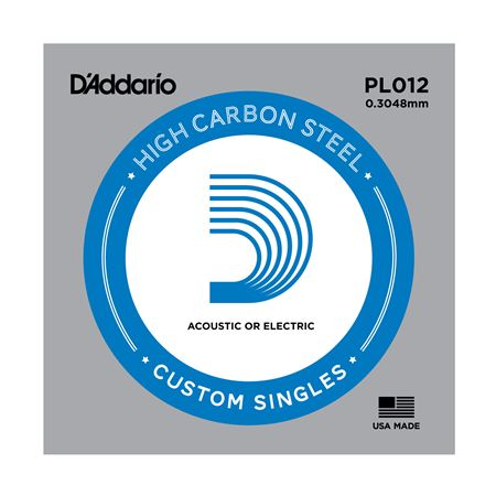 DAddario PL012 Plain Acoustic or Electric Guitar String
