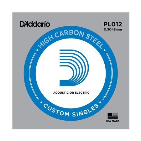 D'Addario PL012 Plain Acoustic or Electric Guitar String