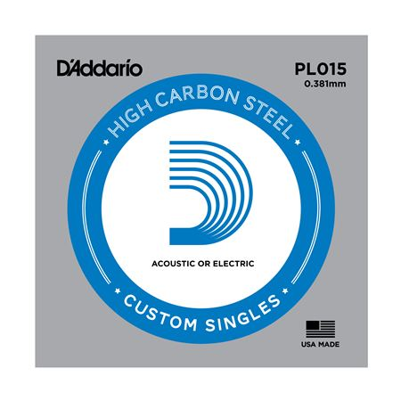 D'Addario PL015 Plain Acoustic or Electric Guitar String