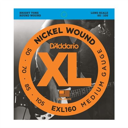 DAddario EXL160 XL Nickel Wound Long Scale Bass Strings
