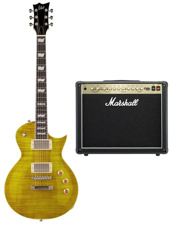 ESP LTD EC256 Lemon Drop with Marshall DSL 40W Combo